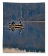 Bass Fishing Fleece Blanket