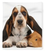 Basset Hound And Guinea Pig Fleece Blanket