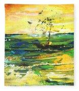 Bathed In Golden Light Fleece Blanket