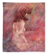 Bathing In The Rain Fleece Blanket