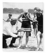Bathing Suits, 1922 Fleece Blanket