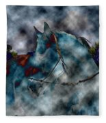 Battle Cloud - Horse Of War Fleece Blanket