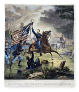 Battle Of Chantlly, 1862 Fleece Blanket