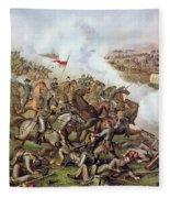 Battle Of Five Forks Virginia 1st April 1865 Fleece Blanket