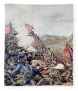 Battle Of Franklin November 30th 1864 Fleece Blanket