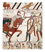Battle Of Hastings Bayeux Tapestry Fleece Blanket