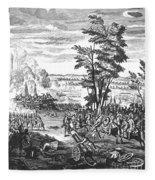 Battle Of Malplaquet, 1709 Fleece Blanket