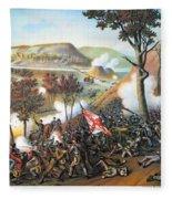 Battle Of Missionary Ridge Fleece Blanket