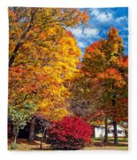 Battle Of The Maples Fleece Blanket