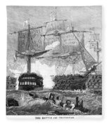 Battle Of Trafalgar, 1805 Fleece Blanket