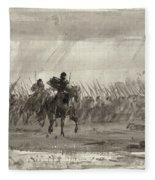 Battle Of Williamsburg Fleece Blanket