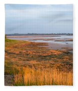 Bay At Shannon Airport Ireland 2 Fleece Blanket