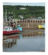 Bay Of Fundy - Low Tide Fleece Blanket