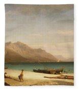 Bay Of Salerno Fleece Blanket