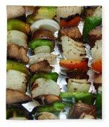 Bbq Grilled Vegetables Fleece Blanket