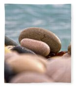 Beach And Stones Fleece Blanket