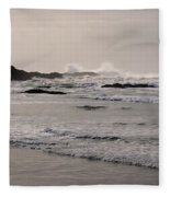 Beach At Tofino  Fleece Blanket