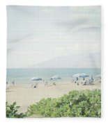 Beach At Wailea  Fleece Blanket