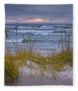 Beach By Holland Michigan No 0192 Fleece Blanket