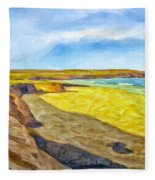 Beach Cliffs South Of San Onofre Fleece Blanket