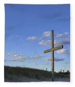 Beach Cross Fleece Blanket