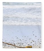 Beach Detail On Pacific Ocean Coast Fleece Blanket