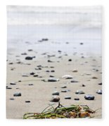 Beach Detail On Pacific Ocean Coast Of Canada Fleece Blanket