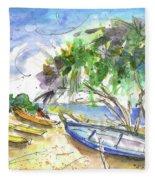 Beach In Ayia Napa Fleece Blanket