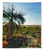 Beach Palm Morning Fleece Blanket