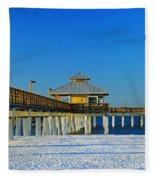 Beach Pier Fleece Blanket