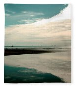 Beach Reflection Fleece Blanket