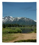 Beach Reflections At Mt Tallac Fleece Blanket
