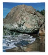 Beach Rock Fleece Blanket