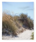 Beach Sand Dunes I Fleece Blanket
