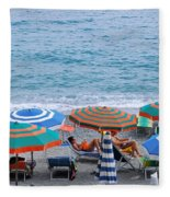 Beach Umbrellas 2 Fleece Blanket