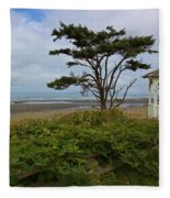 Beachside Gazebo Fleece Blanket