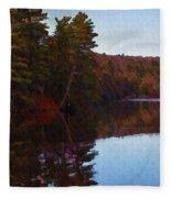 Bear Creek Lake In The Poconos Fleece Blanket