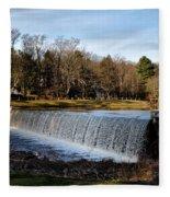 Bear Creek Lake Waterfall Fleece Blanket