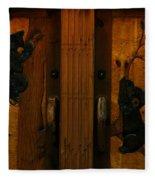 Bear Doors Carved Fleece Blanket