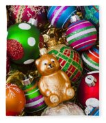 Bear Ornament Fleece Blanket