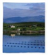 Beara, Co Cork, Ireland Mussel Farm Fleece Blanket