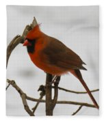 Beautiful Cardinal Fleece Blanket