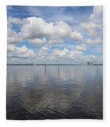 Beautiful Day In Tampa Fleece Blanket