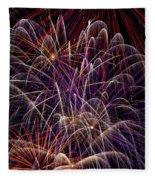 Beautiful Fireworks Fleece Blanket