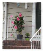 Beautiful Floral Entrance Fleece Blanket