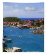 Beautiful Gustavia Fleece Blanket