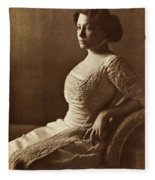 Beautiful Lady In 1880 Fleece Blanket