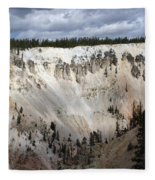 Beautiful Lighting On The Grand Canyon In Yellowstone Fleece Blanket