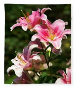 Beautiful Lilys Fleece Blanket