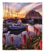 Beautiful Morro Bay Fleece Blanket